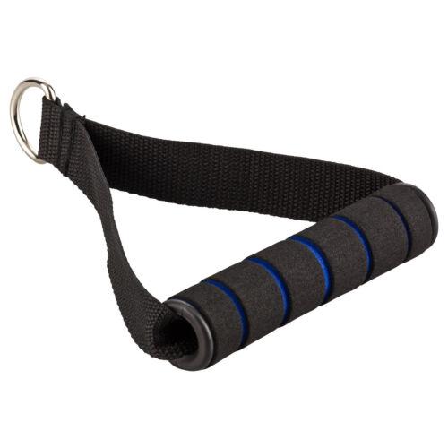 1 Stück Einhand Kabelzug Griff Trainings Griff Latzug Einhandgriff schwarz//blau