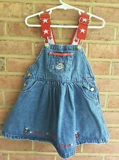 Toddler Girls Dr. Seuss Cat in Hat the Denim Dress 4th of July summer size 3T