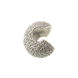 Silver Plated 4mm Stardust Crimp Bead Cover Findings 50pcs