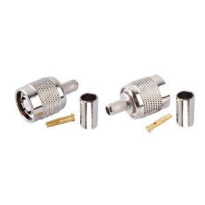 10X-RP-TNC-male-plug-jack-center-crimp-RG58-RG400-LMR195-cable-RF-coax-connector