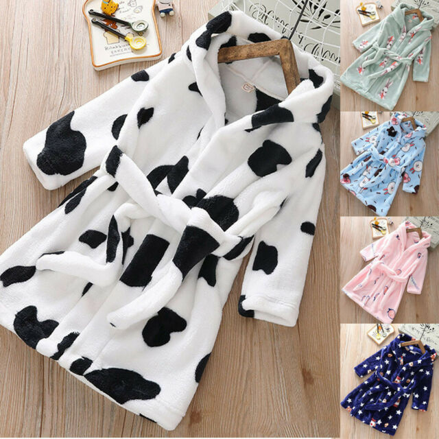 Toddler Baby Girl Boys Nightgown Robe Sleepwear Bathrobes Homewear Pajamas USA