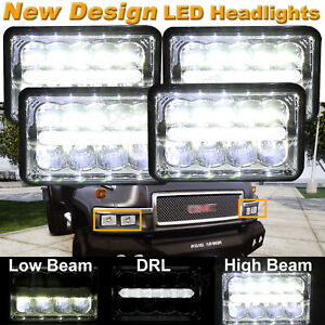 chevy c5500 headlamp wiring 200w  4x6 led headlights cree drl for chevy kodiak c4500 c5500  cree drl for chevy kodiak c4500 c5500