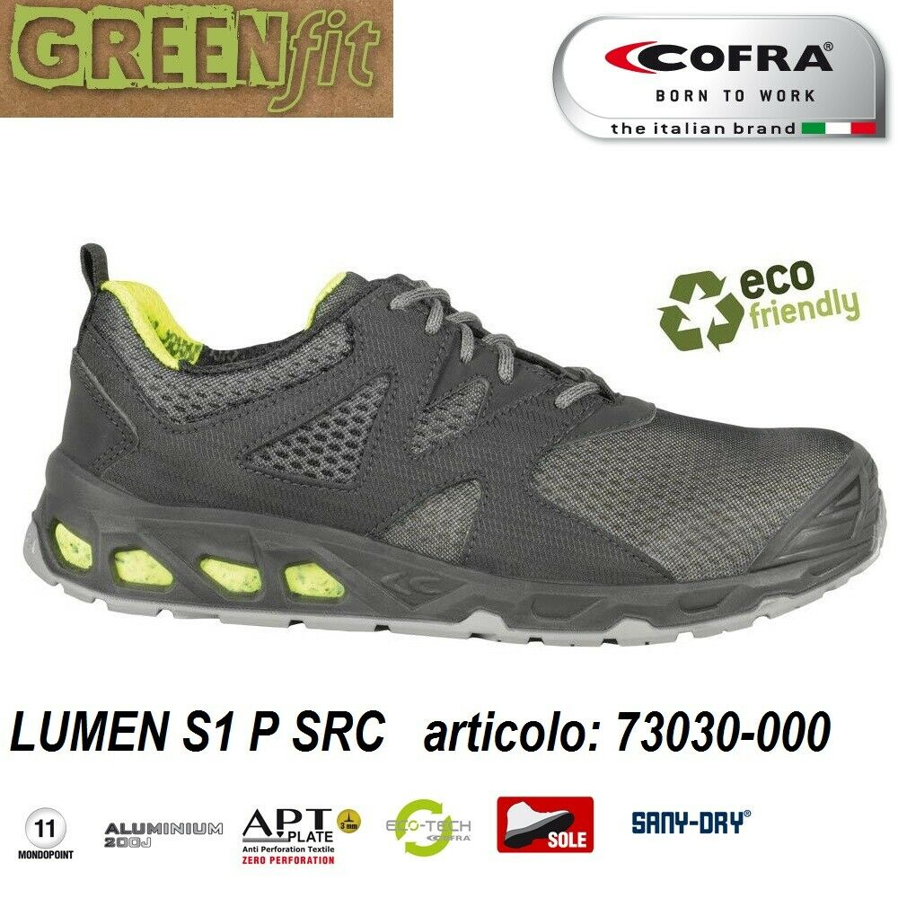 Scarpe Antinfortunistiche COFRA linea GREEN FIT modello