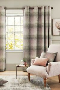Image Is Loading NEXT Sage ASTLEY CHECK Woven Curtains Green