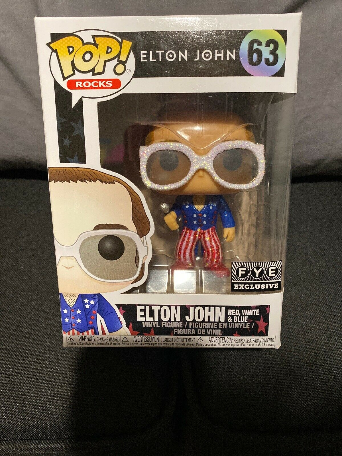 FUNKO POP ELTON JOHN GREATEST HITS WHITE SUIT VINYL FIGURE FREE POP PROTECTOR