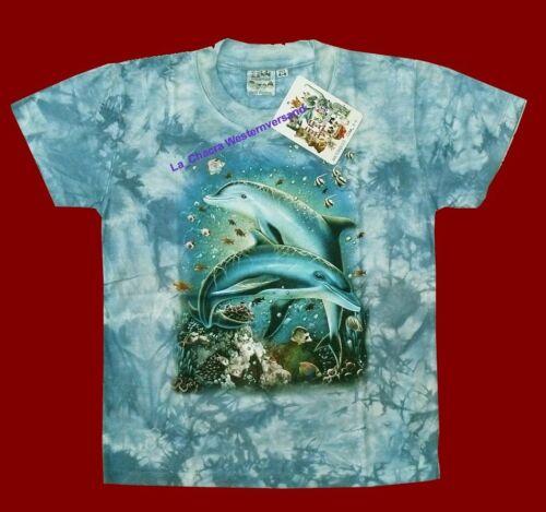 98*104 110*116 Gr.86*92 146*152,Delfin Fische Wal T-Shirt blau Delfine Riff