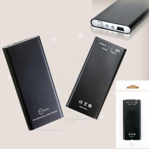 NTOTO Black Hand Warmers Heater Handy USB rechargeable Warmer