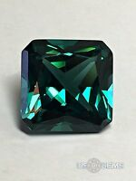 Tourmaline Paraiba. Radiant Cut 10x10mm. 4,9 Ct. Created Gemstone Nanosital. Us