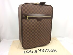 1339cbf32 Auth Louis Vuitton Damier Ebene Brown Pegase 45 Rank A Travel Bag ...