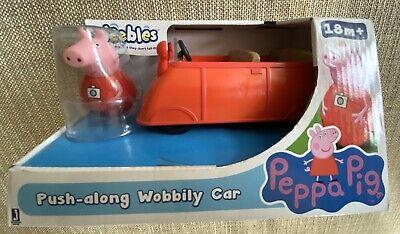 Peppa Pig Weebles Push le long de voiture Wobbily avec figurine