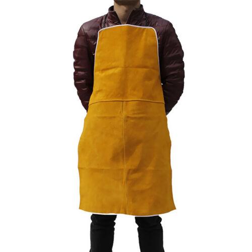 Schweißschürze Wärmeisolierung Rindsleder Schweißschutz Orange