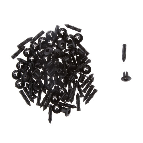 50pcs 6mm Hole Plastic Push In Type Rivets Fastener Pin Clips for Suzuki