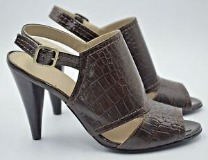 46e04921b Gorgeous M S Autograph Brown Snakeskin Heeled Sandals. Size 5 NEW ...