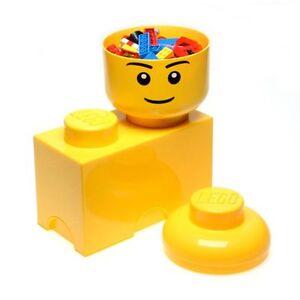 LEGO-almacenaje-Ladrillo-2-Yellow-Caja-Para-Ninos-Cuarto-De-Juegos