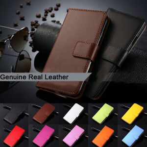 For-Nokia-Series-Flip-Card-Slot-Wallet-Cover-Genuine-Real-Leather-Phone-Case
