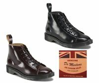 Dr Martens Les Made In England Mie Boanil Brush Leather 7 Eye Ankle Monkey Boots