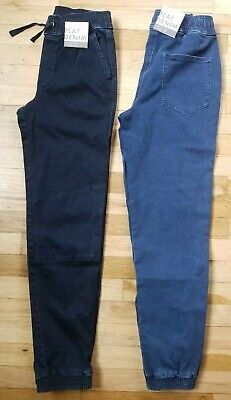NEW HANNA ANDERSSON Play Stretch Denim Jeans Size 140 10 Yrs Organic  Joggers