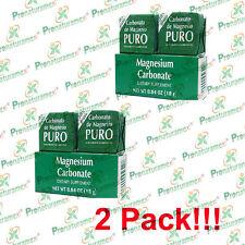 2 Packs x 2 Blocks = 4 Blocks!! Magnesium Carbonate/Carbonato de Magnesio Puro