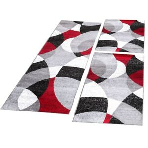 tour de lit tapis de couloir moderne abstrait demi cercles. Black Bedroom Furniture Sets. Home Design Ideas
