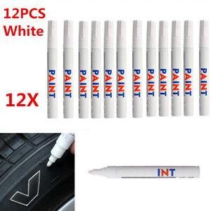 12-Pcs-White-Waterproof-Permanent-Vehicle-Car-Tyre-Tire-Tread-Paint-Marker-Pen