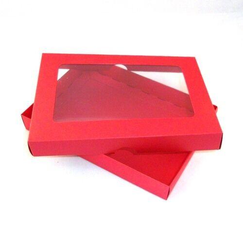 5  x7  Rojo apertura tarjeta de felicitación de cajas, Caja De Regalo, Entrega Gratis. elegir Cant