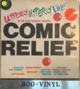 Utterly-Utterly-Live-Comic-Relief-UK-vinyl-LP-album-record-WX51-WEA-1986-Rare-Ex