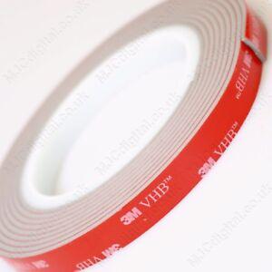 3M VHB 5mm x 3m 2.5mm Acrylic Foam Double Sided Attachment Heavy Duty Best Tape