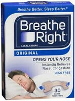 Breathe Right Nasal Strips Original Tan Large 30 Each (pack Of 4) on sale
