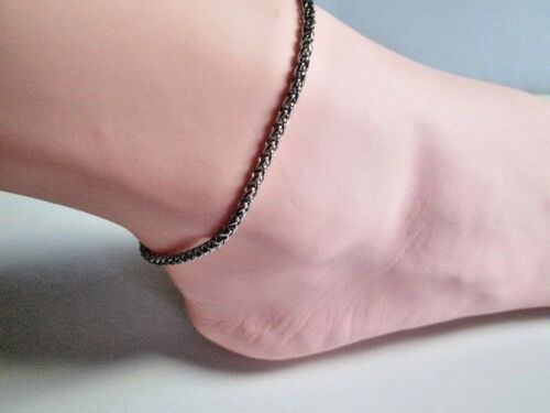 Anklet Ankle Bracelet 3mm Wheat Stainless Steel Chain Select Size Female Fashion
