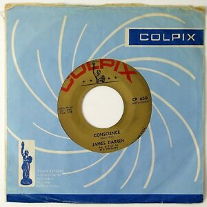 JAMES-DARREN-Conscience-Dream-Big-7IN-1962-POP-ROCK-NM