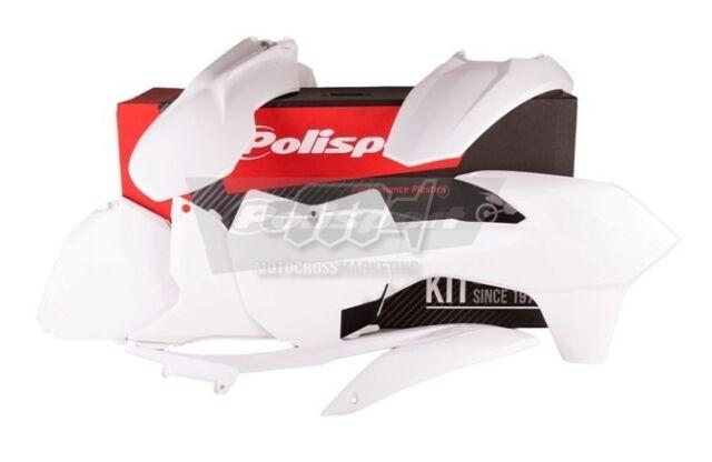 POLISPORT SET PLASTIQUE COMPLET MX CROSS ENDURO BIANCO KTM 250 SX 2013-2016