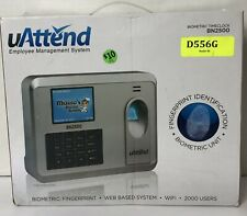 Uattend Bn2500 Biometric Fingerprint Recognition Time Clock Wifi Pre Owned