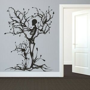 Beautiful Image Is Loading Halloween Skeleton Wall Decal Removable Vinyl Tree Of  Part 30