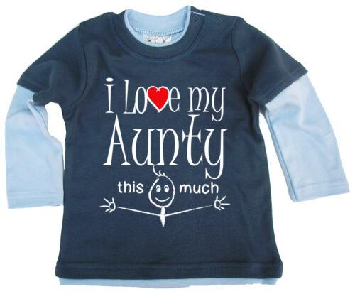 "Baby Skater Top /""me encanta mi tía tanta/"" sobrina Sobrino Regalo de manga larga"