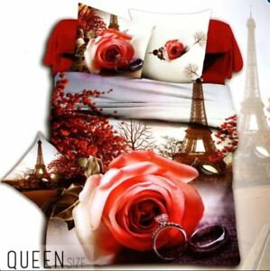 Celebrity-Collection-Queen-Size-3D-Bedding-Set-of-3-Romantic-Place-Design