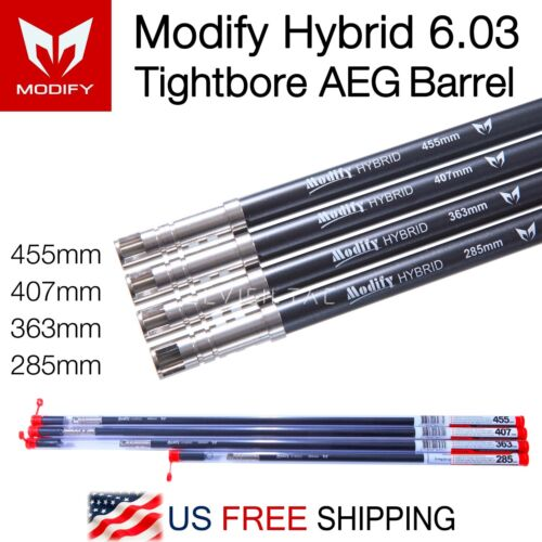 MODIFICA ibrido 6.03mm AUTOMATICO ELETTRICO PISTOLA tightbore Barrel 285mm 363mm 407mm