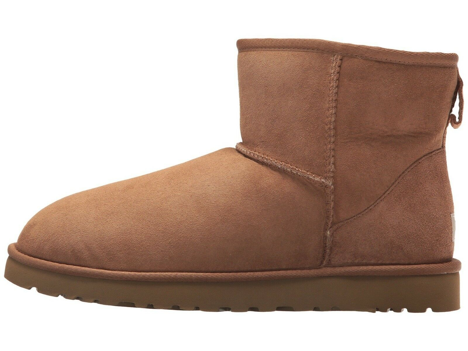 UGG Men's CLASSIC MINI Sheepskin & Suede Winter Boots CHESTNUT 1002072