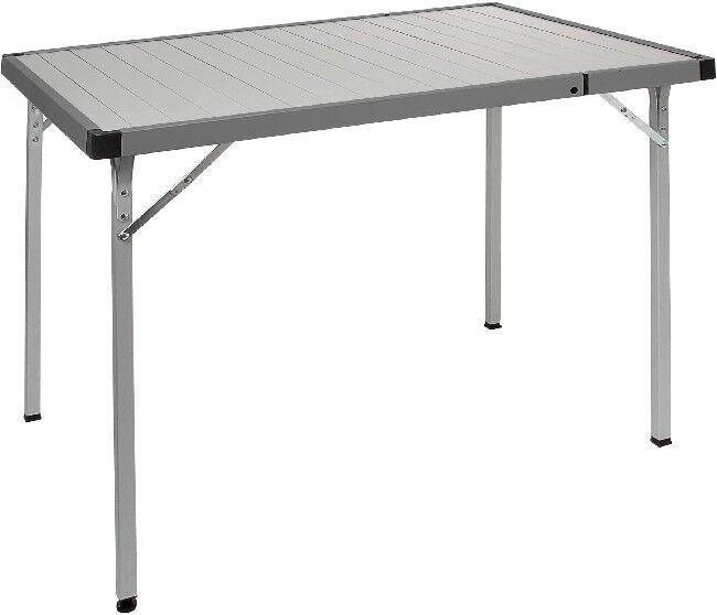 Cámping brunner aluminio mesa plegable plata extender  extraíble 70 x 94 - 129 cm  bienvenido a comprar