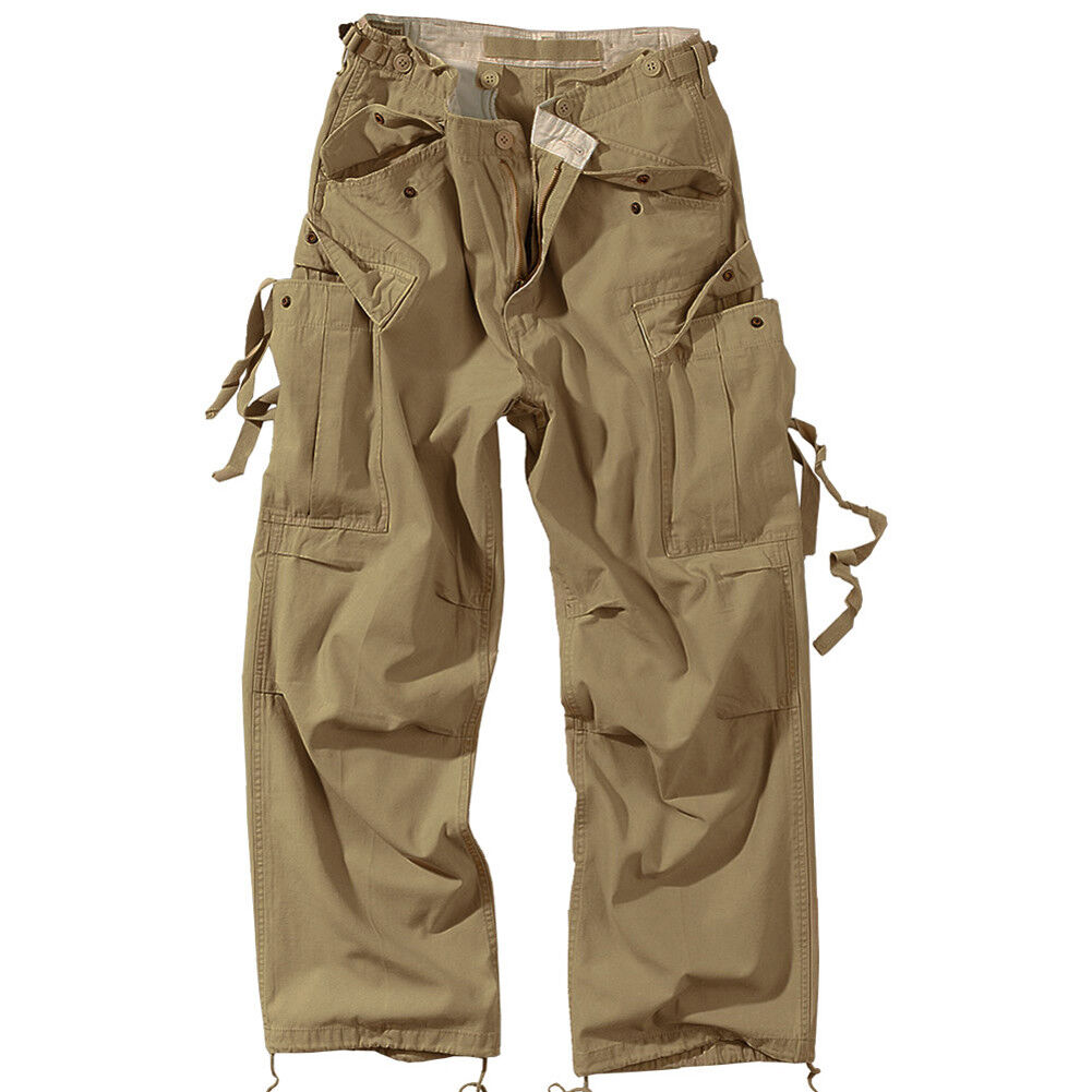 Vintage uomo Combatte Pantaloni Pantaloni Pantaloni Patrol Cargo Pantaloni Lavoro Surplus Casual b41fbd