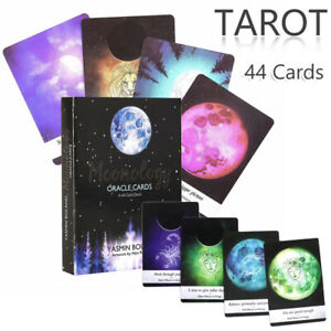 Tarot-Cards-Moonology-Oracle-Cards-44-Card-Deck-English-Indoor-Board-Game-Card