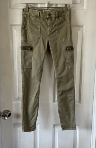 Madewell Olive Green Skinny Fatigue Pants Size 25