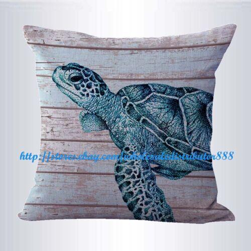 marine sea life turtle cushion cover modern decorative throw pillows