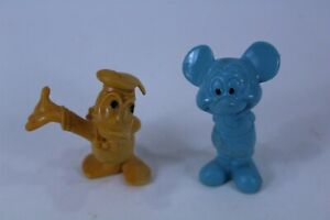 Lot of 2 Vintage Disney Rubber Figurines Mickey & Donald