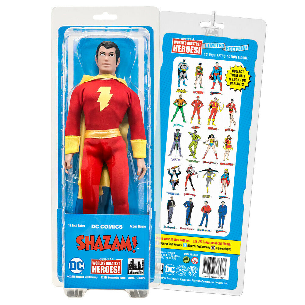 12 in (environ 30.48 cm) Rétro DC Comics Action Figures Series  SHAZAM