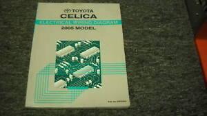 2005 Toyota Celica Electrical Wiring Diagrams Shop Repair Service Manual EWD OEM