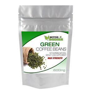 120-caffe-verde-Bean-Max-6000mg-alta-resistenza-CGA-dieta-meglio-organismi-weightloss