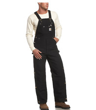 Brand New Carhartt Duck Zip To Thigh Bib Overall Quilt Lined R41 Size 54x30