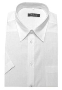 Huber-senores-manga-corta-camisa-de-lino-blanco-de-produccion-en-Europa-hu-0140-regular-Fit