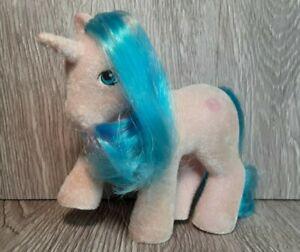 My Little Pony G1 Buttons Flocked So Soft Unicorn Pony