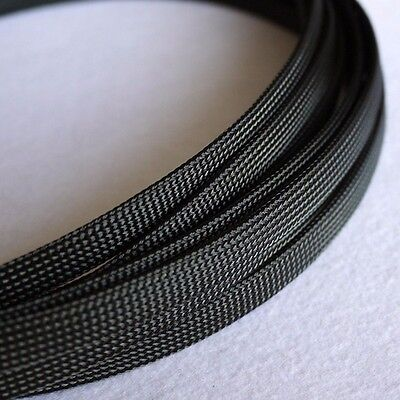 4MM Green/&Black Dense PET Expanding Matte Braided Sleeving Cable 1//3//5//10//20M